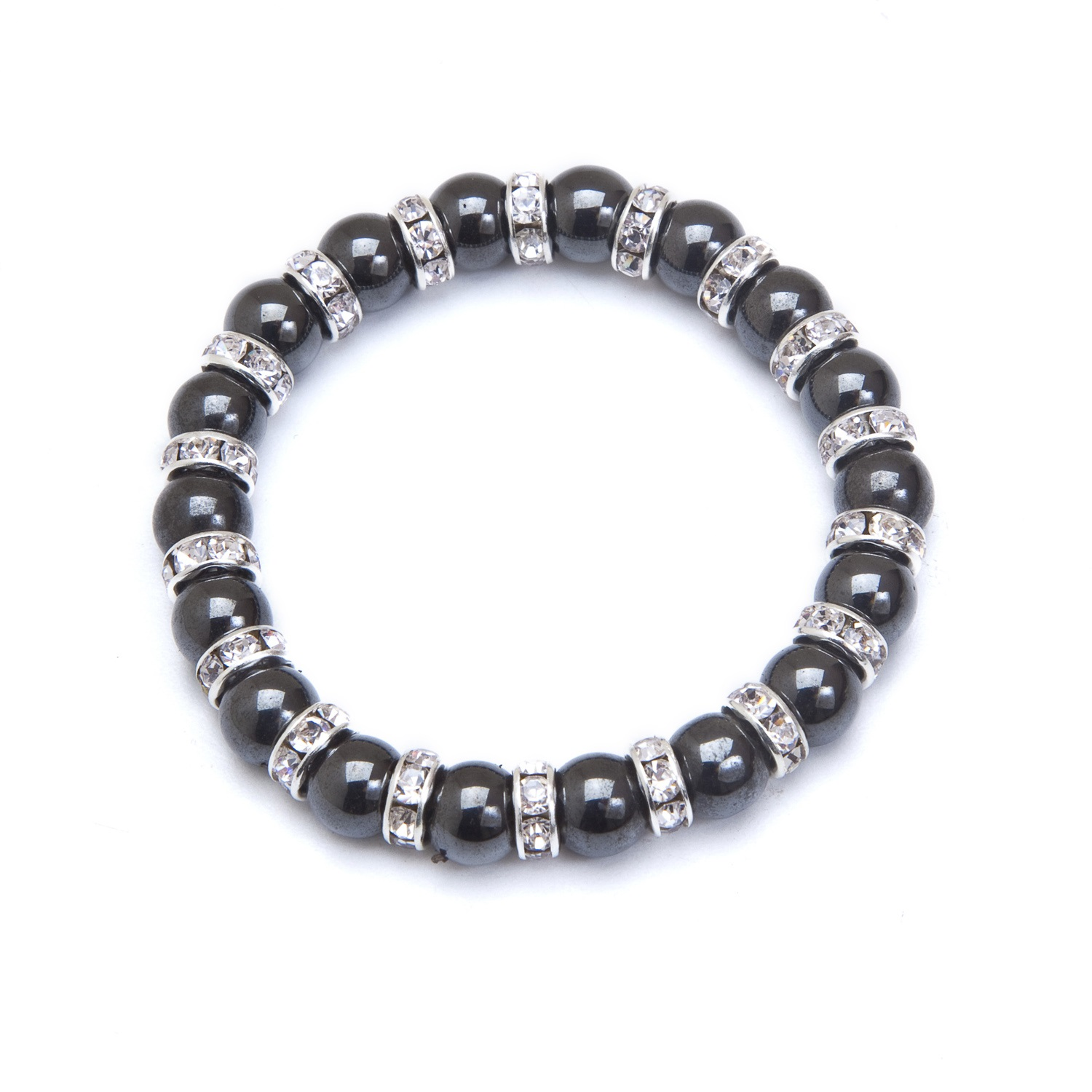 Stretch Black Crystal Magnetic Bracelet