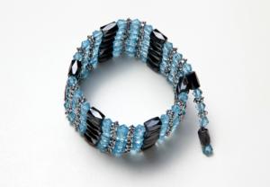 dark blue, crystal, and black magnetic wrap