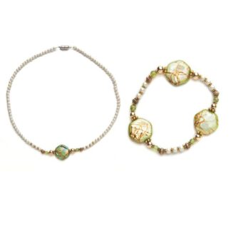 peridot magnetic bracelet and necklace set