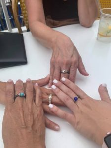 Magnetic Rings worn by customers