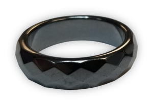 Black Beveled Magnetic Band Ring. Best Utilized for Hangovers